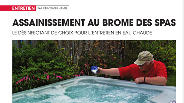 Bromine sanitation in hot tubs
